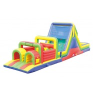 52FT WET or DRY OBSTACLE COURSE WITH 16FT SLIDE