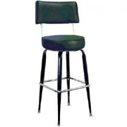 BAR STOOL BLK/CHROME WITH BACK