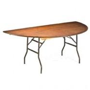 TABLE HALF ROUND corporate rental