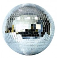 MIRROR BALL WITH LIGHTS & MOTOR
