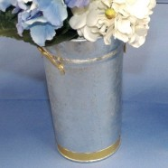 TABLETOP VASE GALVANIZED