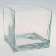 TABLETOP VASE GLASS SQUARE
