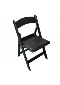 CHAIR RESIN BLACK WITH BLACK PAD