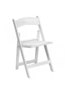 CHAIR RESIN WHITE WITH WHITE PAD