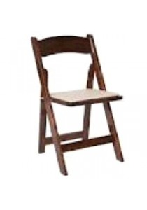 CHAIR WOOD FRUITWOOD WITH TAN PAD