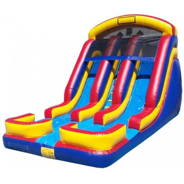 18FT DUAL LANE WET or DRY SLIDE