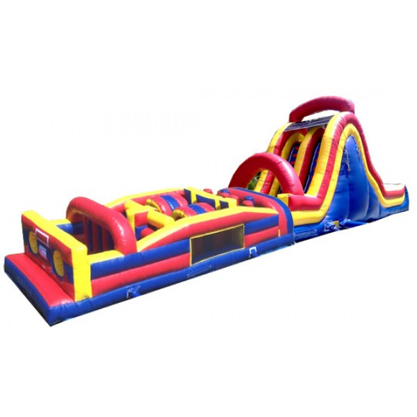 64FT WET or DRY OBSTACLE COURSE WITH 16FT SLIDE corporate rental