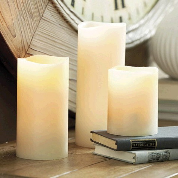 Candles Battery White