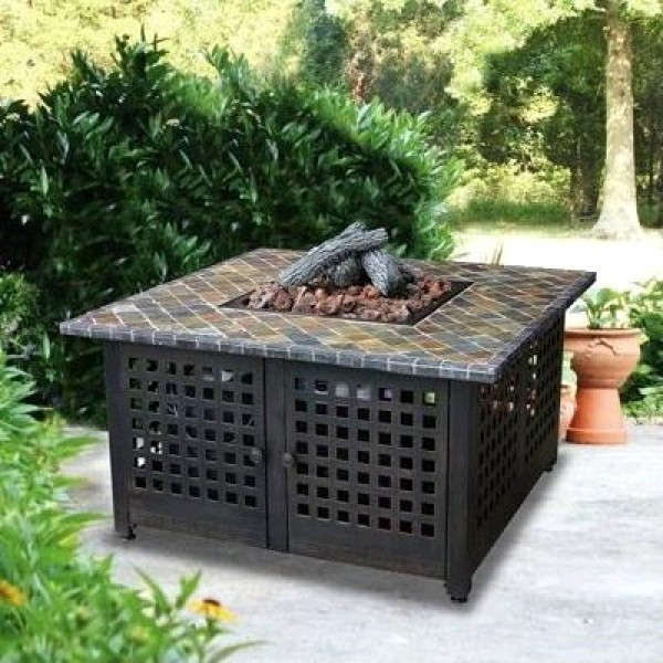 FIREPIT SQUARE WITH SLATE MANTEL corporate rental