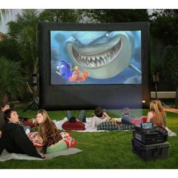 MOVIE SCREEN WITH PROJECTOR corporate rental