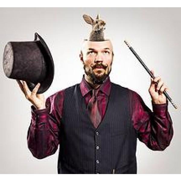 "ELIAS ""LEFTY"" CARESS MAGICIAN & ENTERTAINER corporate rental hire"