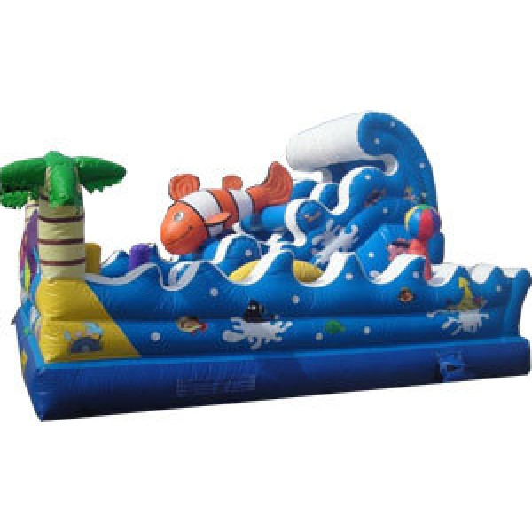 TROPICAL OCEAN WAVE PLAYGROUND OBSTACLE COURSE corporate rental