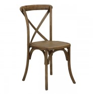 CHAIR WOOD SONOMA CROSSBACK RUSTIC